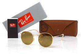 Солнцезащитные очки, Ray Ban Round Metal 3447-brown-g
